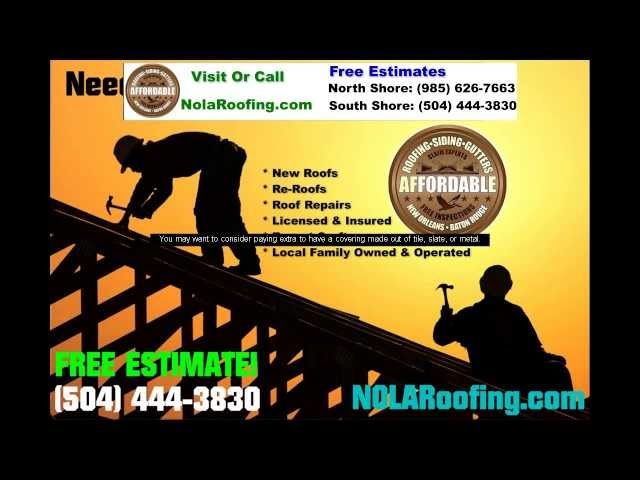 New Orleans Roofing – FREE Estimates Call Now (504) 444-3830