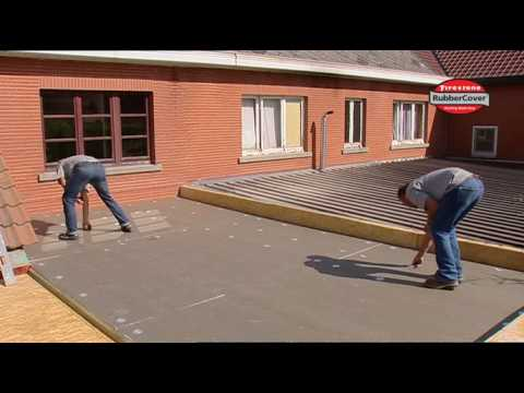 Waterproofing A Flat Roof With Firestone EPDM Rubber Roof Membrane