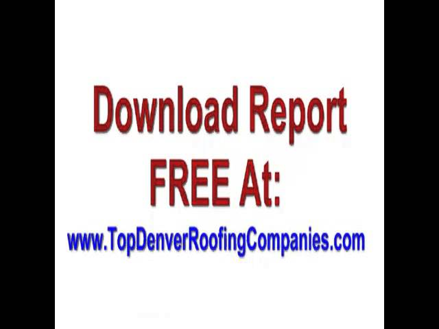 Denver Roofing Companies  Call 303 625 9090 FREE Estimate