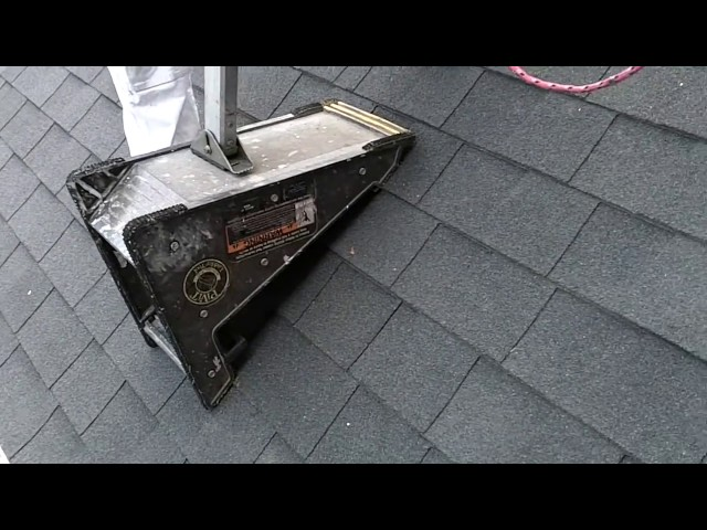 PiViT Ladder Tool On A Steep Roof.  Tips Using A Ladder On A Roof.  DIY Painting Tool Hacks.