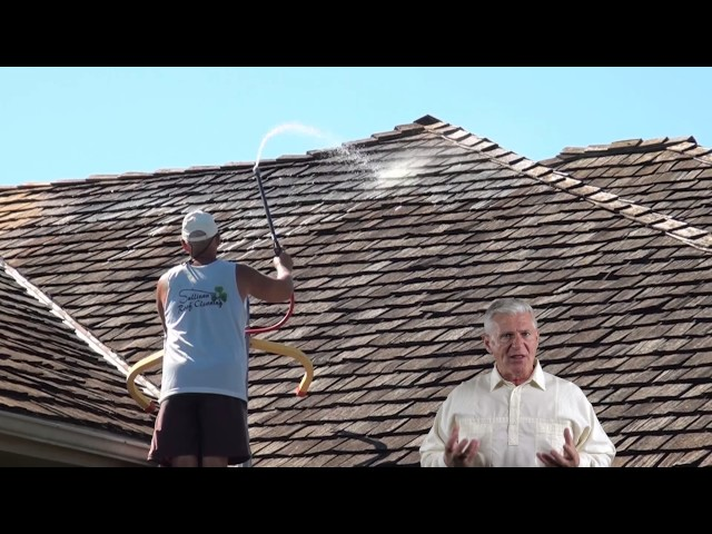 Cedar Shake Roof Cleaning By Roof Cleaner