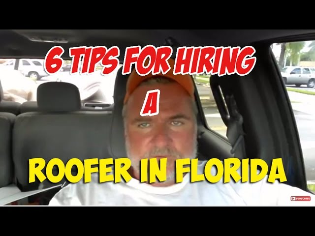 6 Tips For Hiring Roofing Contractor – West Palm Beach Florida