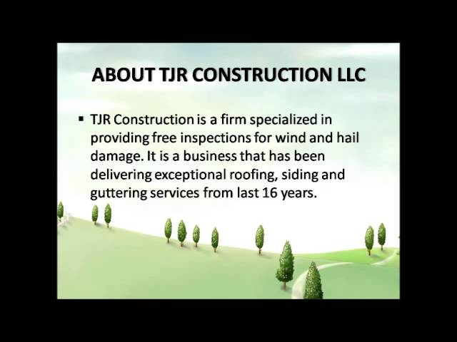 Roofing Tips What To Do After Hailstorm? TJR Construction LLC Roofing
