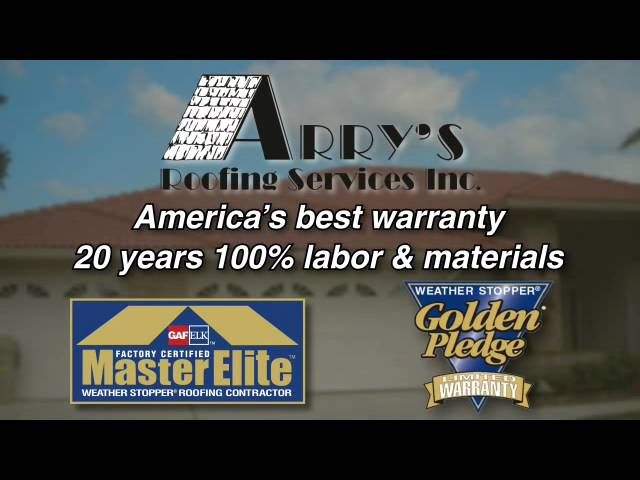 Arry's Roofing Residential Roofing Video